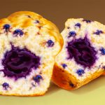 Food Illustration, Blueberry Muffin, airbrush, by Lonnie Busch, Franklin, North Carolina