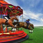 Realism, Horse, Carousel, for Boehringer Ingelheim, Ingelheim am Rhein, Germany, 3D, Cinema 4D, by Lonnie Busch, Franklin, North Carolina