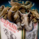 Cartoon Characters, Six-Pack of Elephants, Elephant Malt Liquor, Anheuser-Busch, airbrush, by Lonnie Busch, Franklin, North Carolina