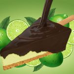 Food Illustration, Key Lime Frozen Pie Bar, for Resource One Marketing Firm, St. Louis, Missouri, by Lonnie Busch, Franklin, North Carolina