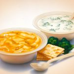 Food Illustration, Soup, Rax Restaurant, airbrush, by Lonnie Busch, Franklin, North Carolina