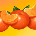 Food Illustration, Tangerines, Nestea Sachet Packaging, Nestlé, by Lonnie Busch, Franklin, North Carolina