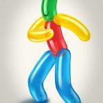 Cartoon Characters, Balloon Man, R. W. Johnson Hospital, by Lonnie Busch, Franklin, North Carolina