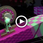 Animation, 3D, called Ballpit Robot, created in Cinema 4D, Cinema 4D, dynamics, gears, balls, by Lonnie Busch, Franklin, North Carolina