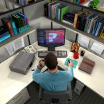 Realism, Man in Office Cubicle, Associations Now Magazine, 3D, Cinema 4D, by Lonnie Busch, Franklin, North Carolina