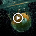 Animation 3D, called One Ball Splash, created in Cinema 4D, using Xparticles, by Lonnie Busch, Franklin, North Carolina