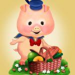 Cartoon Characters, Piglet, Gerber, by Lonnie Busch, Franklin, North Carolina