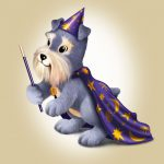 Cartoon Characters, Schnauzer, Magician, Grins & Giggles, Gerber, by Lonnie Busch, Franklin, North Carolina