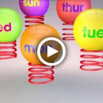 Animation 3D, called Spring Days, created in Cinema 4D, springs, balls, by Lonnie Busch, Franklin, North Carolina