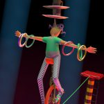 Cartoon Characters, Unicycle, Tightrope, Cartoon Character, Animation Still, 3D, Cinema 4D, by Lonnie Busch, Franklin, North Carolina
