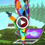 Animation, Motion Graphics, created in Cinema 4D, dynamics, Let it Surprise You, Different is Better_Lenovo, by Lonnie Busch, Franklin, NC